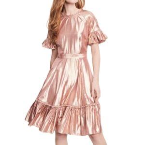 Rachel Parcell metallic swing dress